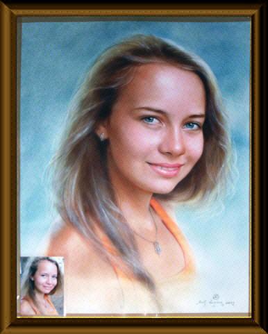 Нарисовать портрет на заказ в москве недорого