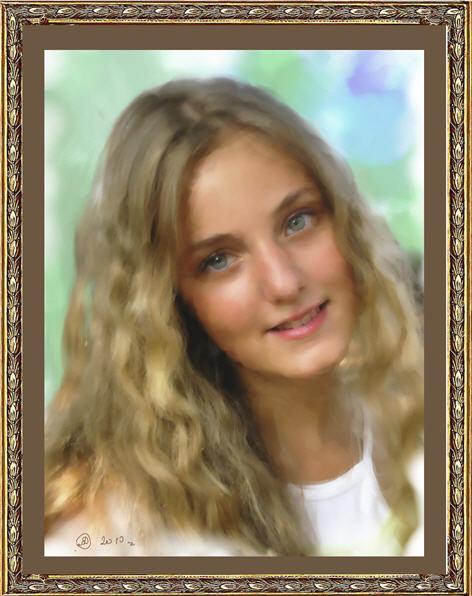 Цифровой портрет имитация живописи в